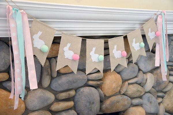 DIY Bunny Banner