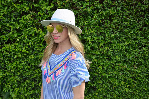 Tassel Stripe Dress