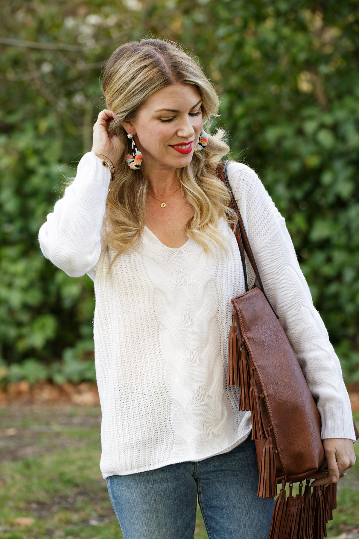 White Knit Sweaters
